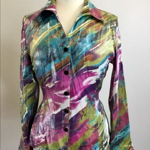 Erin Multi Colored Long Sleeve Top (B-52)